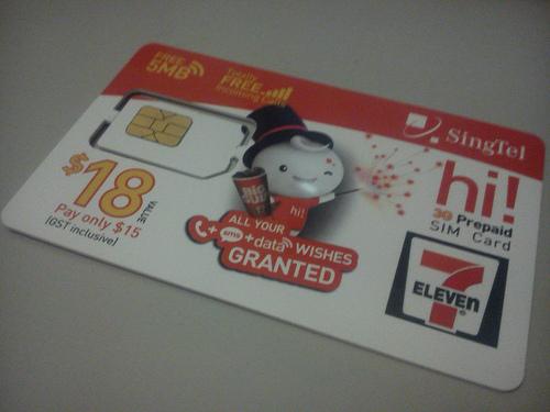 Singtel Prepaid SIMS