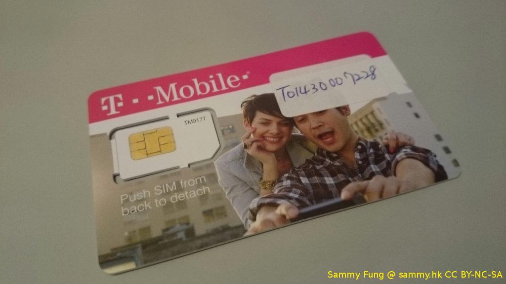 美國 T-mobile 預付卡